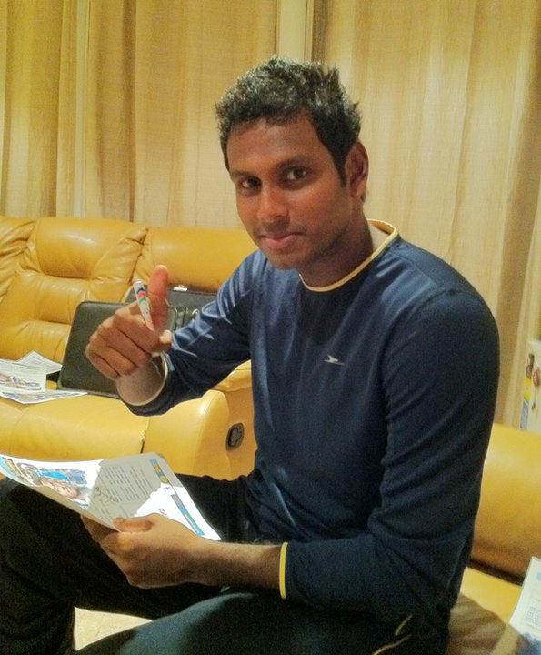 Angelo Mathews loves the cool weather in Melbourne