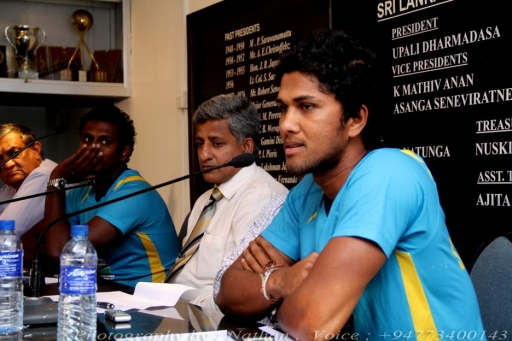 New T20 captain Dinesh Chandimal at his first press conference