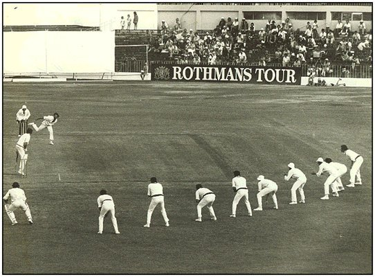 Rare - nine slip fielders