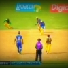 CPL 2013 - Murali takes the wicket of Pollard