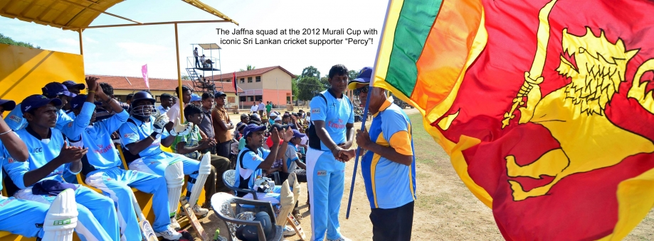 Jaffna squad at 2012 Murali Cup with Percy Abeysekera