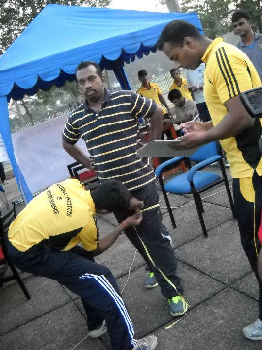Aluthgamage at the fitness camp held at Torrington Square