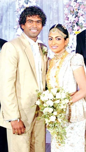 Lasith Malinga wedding portrait