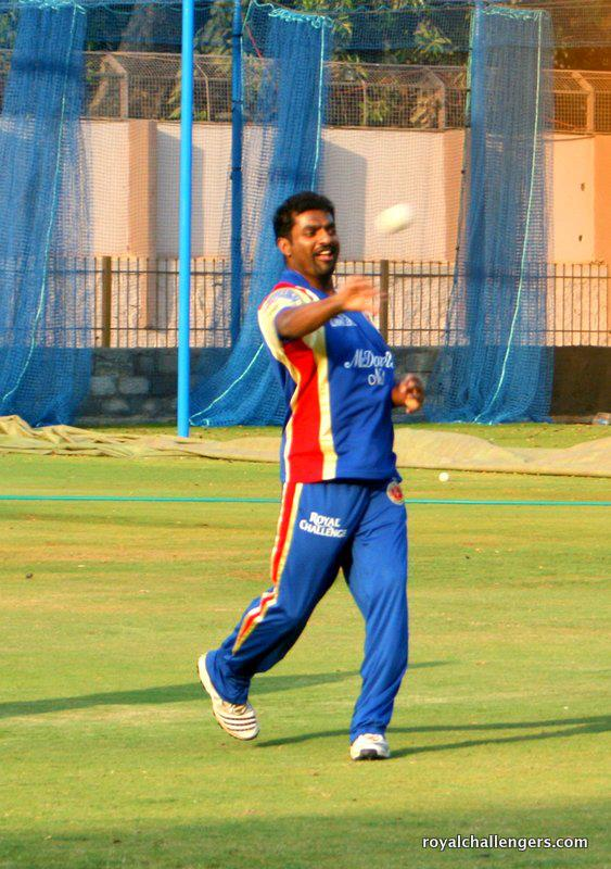 Murali spins it for Royal Challengers Bangalore