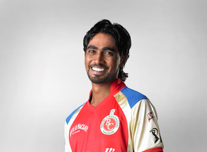 Nuwan Pradeep in Royal Challengers Bangalore kit
