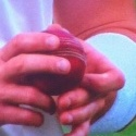 Good close up of Siddle getting his nails to work on the ball there - scratchy, scratchy?
