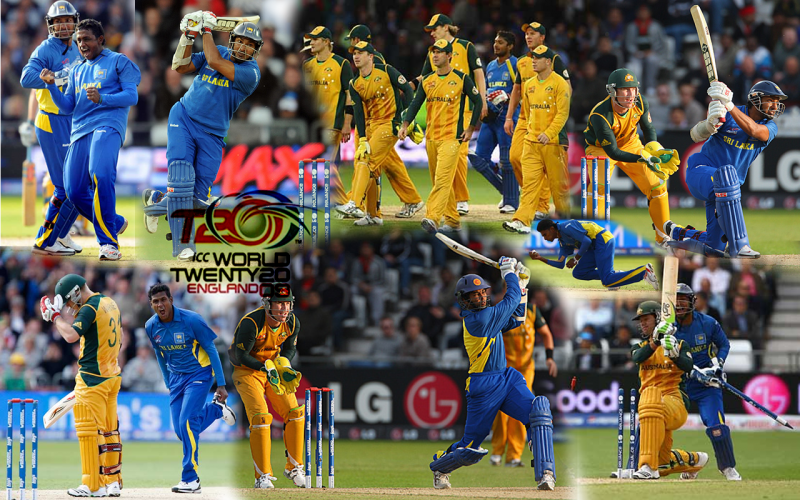 Australia vs Sri Lanka T20 Collage