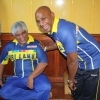 Arjuna and Sanath enjoy a light moment
