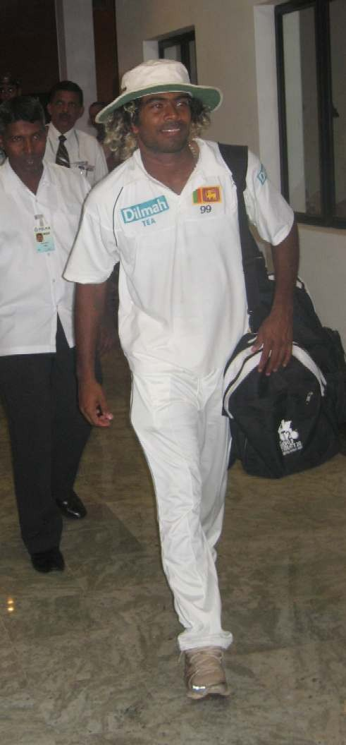 Lasith Malinga during his last Test Match before injury