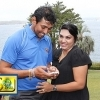 Dilshan with his wife at Australian Prime Minister's residence in Sydney