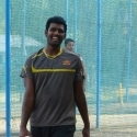 Thisara Perera in the nets ahead of the clash against Rajasthan