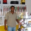 Zoysa purchasing gear at Chandana Sports