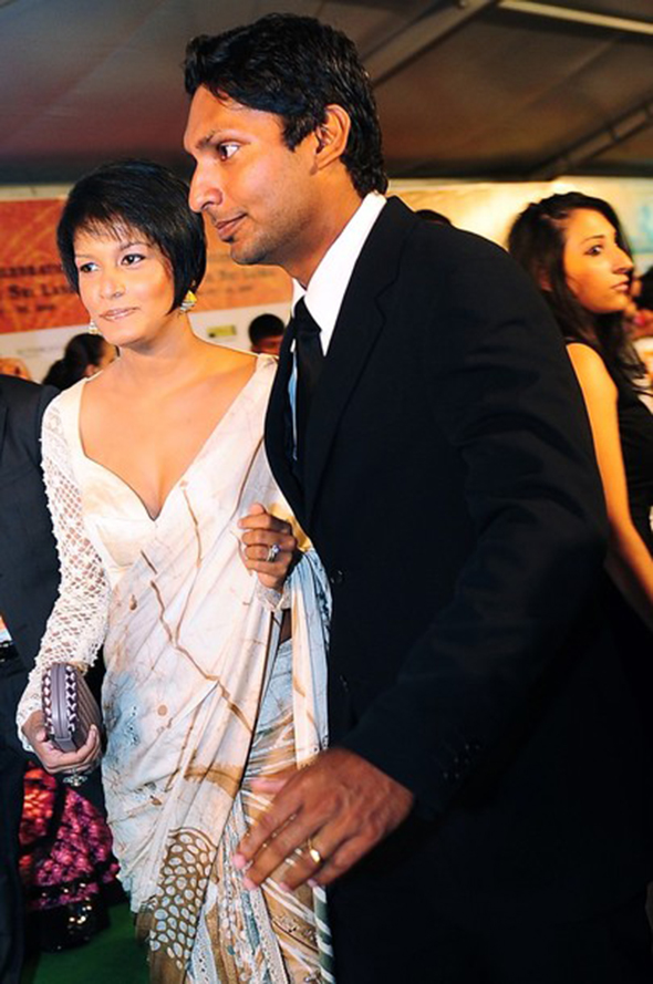 Photo - Kumar Sangakkara and Yehali.