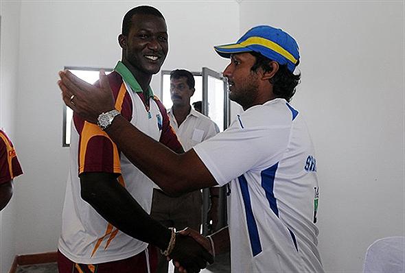 Kumar Sangakkara and Darren Sammy