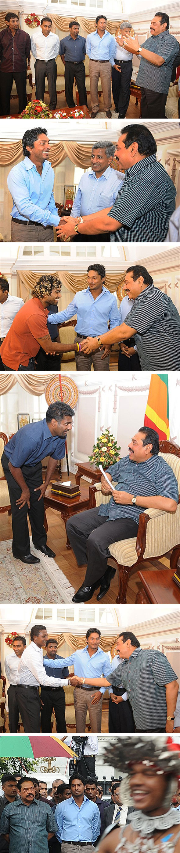 President Rajapaksa meets World Cup squad