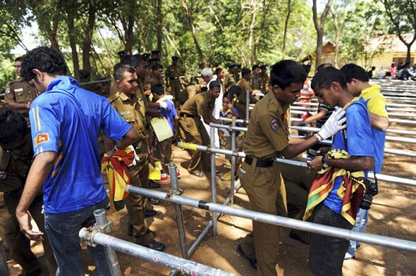 Tight security in Suriyawewa