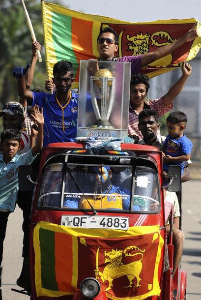 World Cup celebrations Sri Lankan style