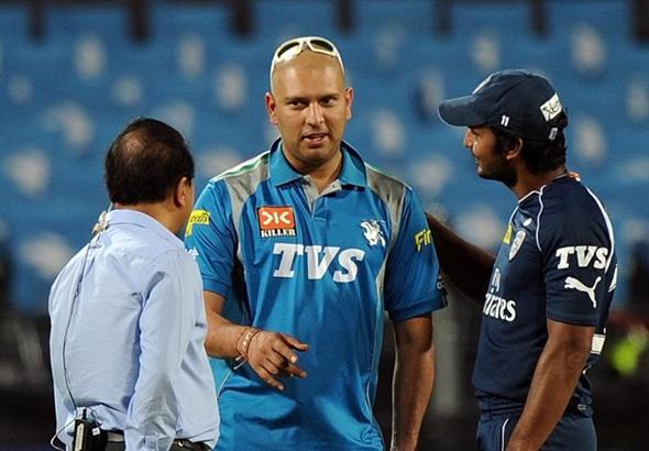 Kumar Sangakkara with Yuvraj