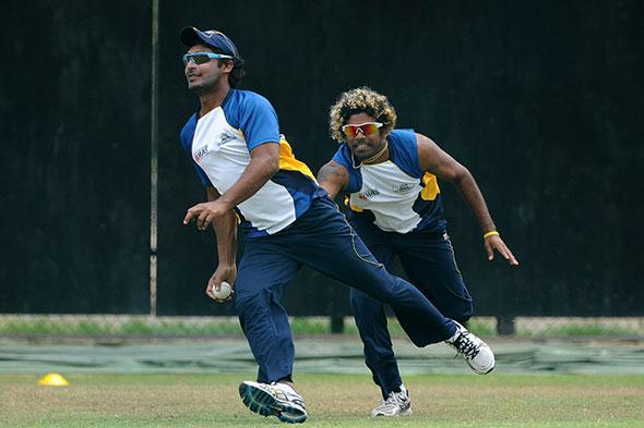 Kumar Sangakkara and Lasith Malinga