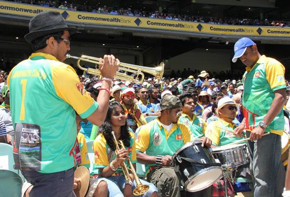 Sri Lankan papare band at the MCG on Boxing Day