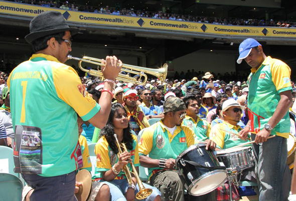 Sri Lankan papare band at the MCG on Boxing Day
