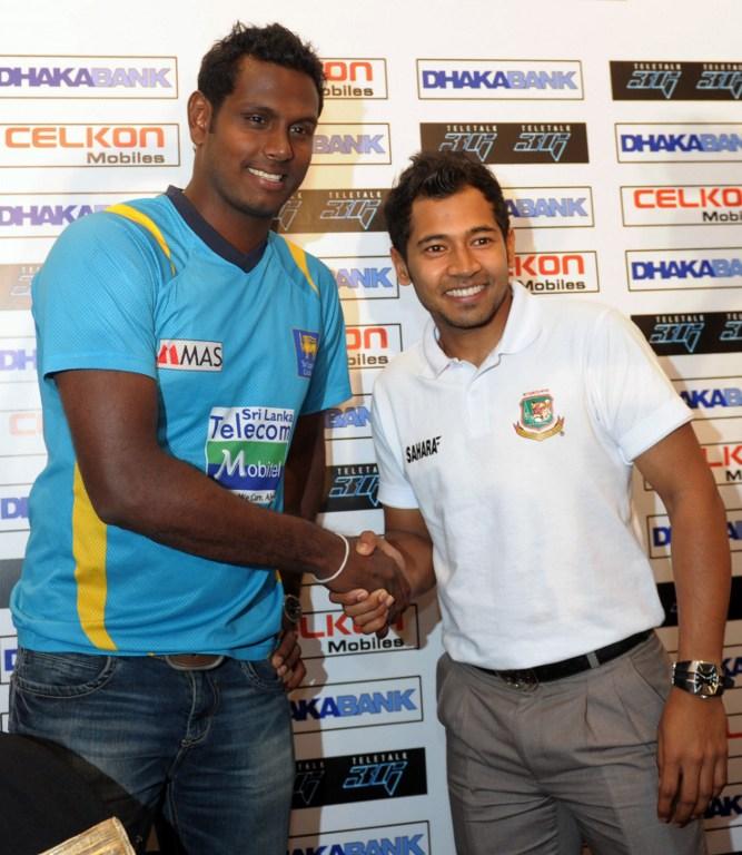 Angelo Mathews and Mushfiqur Rahim