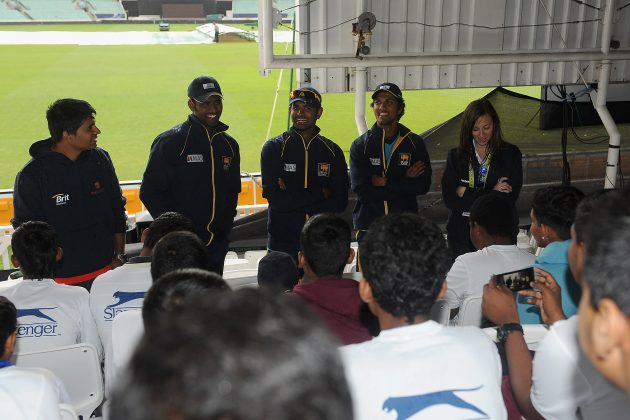 Perera, Thirimanne and Chandimal at ICC Chance to Shine Programme