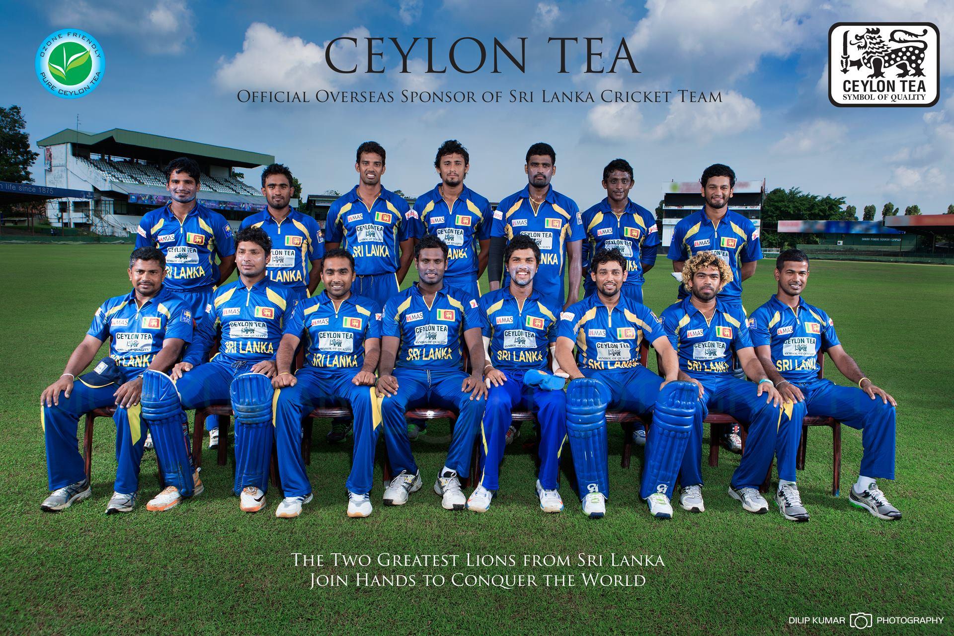 Sri Lanka Cricket Team In Ceylon Tea Advertisement Island
