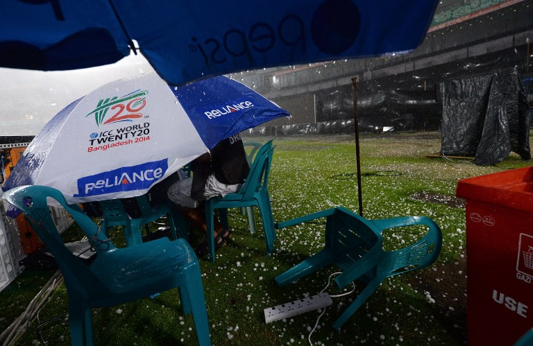 Hail storm forces end to the match
