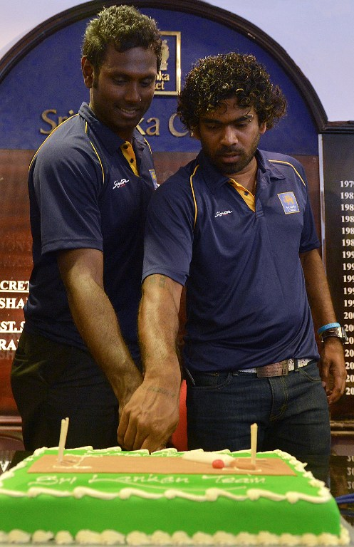 Angelo Mathews and Lasith malinga