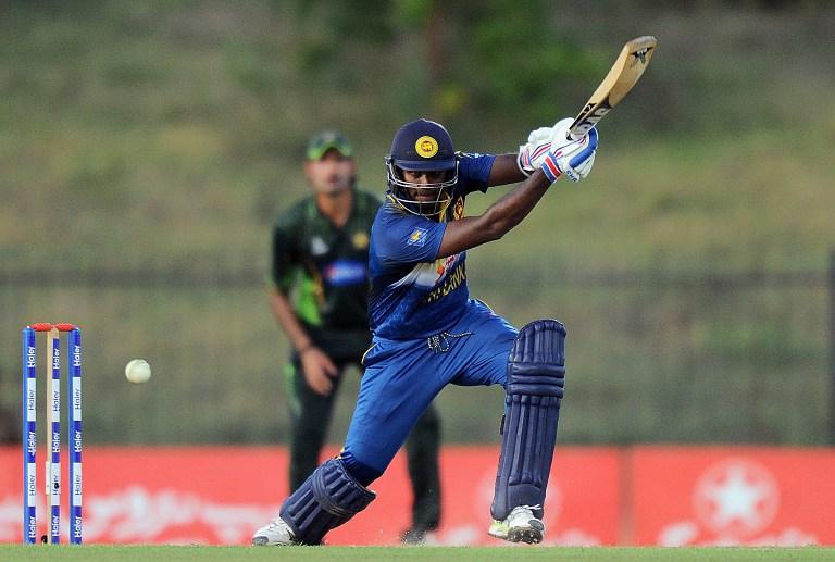 Sri Lankan cricket captain Angelo Mathews