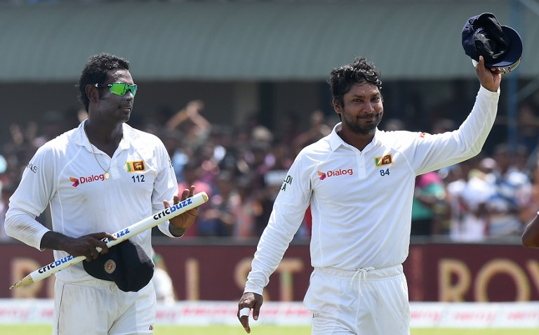 Angelo Mathews and Kumar Sangakkara