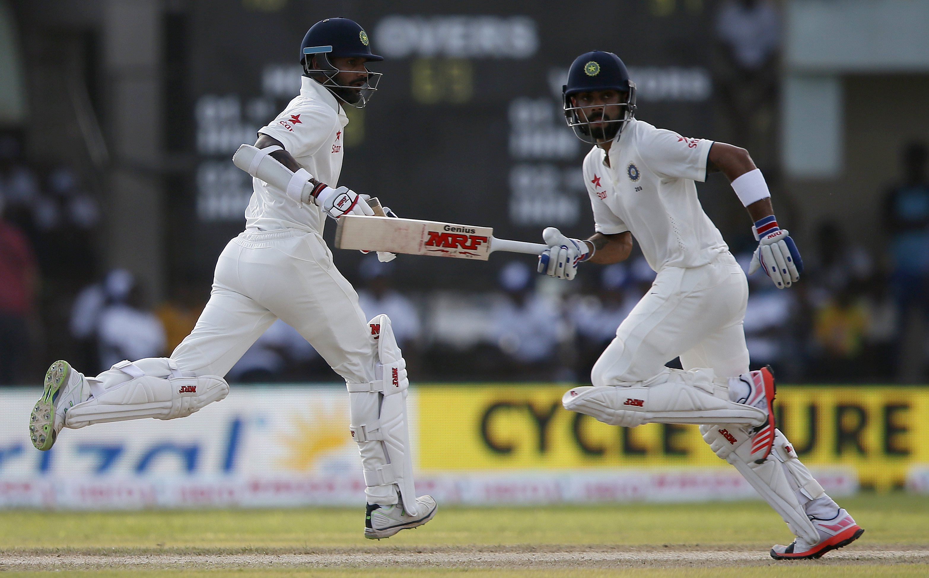 India's captain Virat Kohli and Shikhar Dhawan