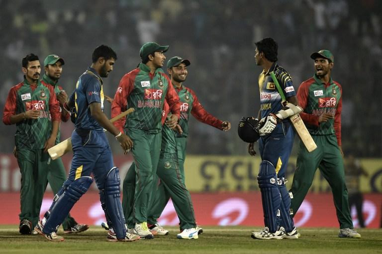 Bangladesh's players celebrate