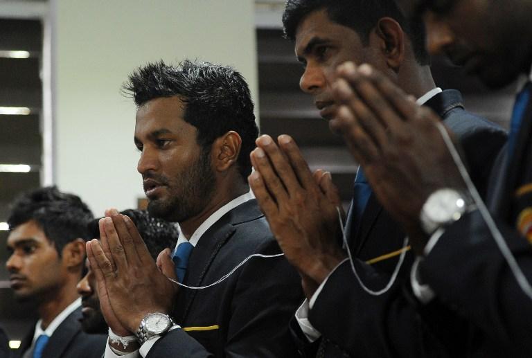 Sri Lankan cricketer Dimuth Karunaratne